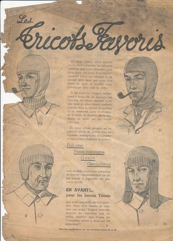 Magazine de tricots de 1939 pour les soldats Tricot20