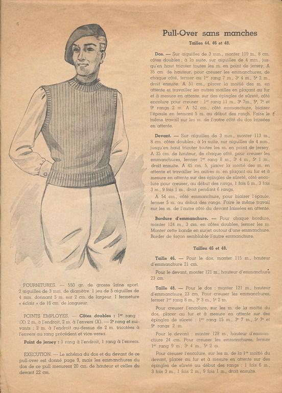 Magazine de tricots de 1939 pour les soldats Tricot21