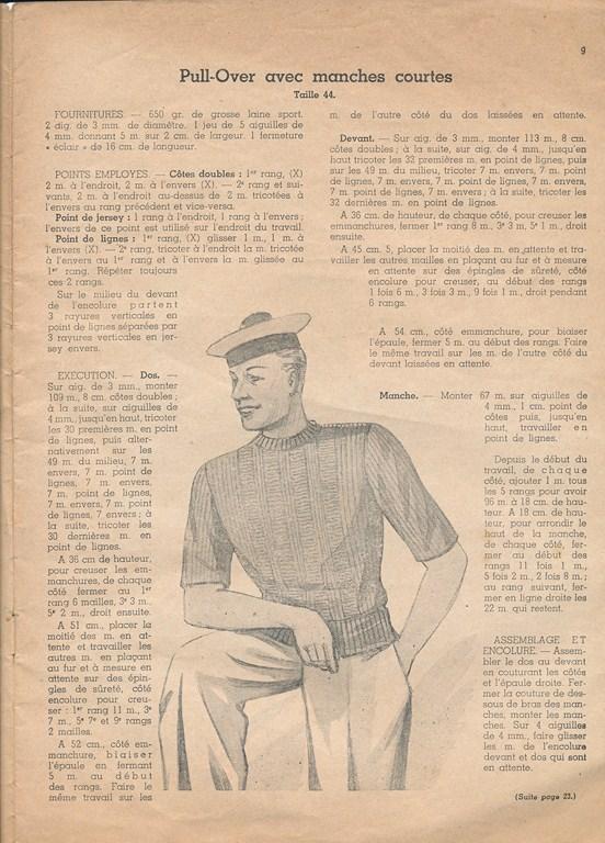 Magazine de tricots de 1939 pour les soldats Tricot22
