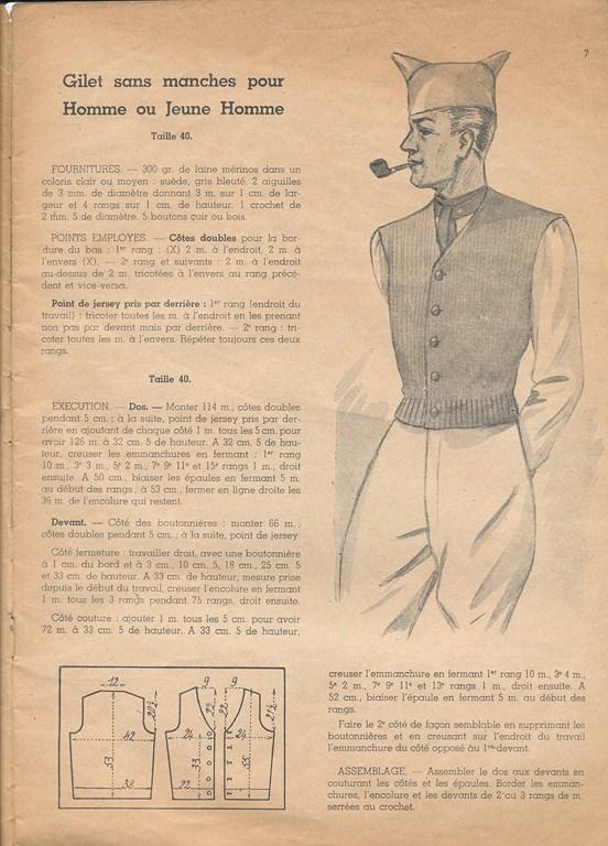 Magazine de tricots de 1939 pour les soldats Tricot23