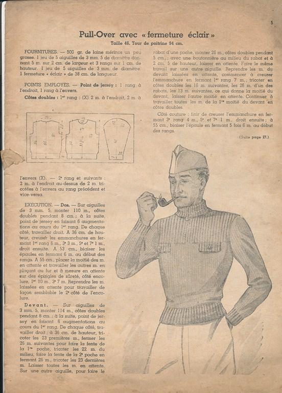 Magazine de tricots de 1939 pour les soldats Tricot24
