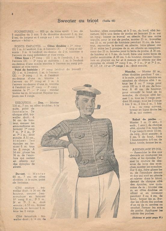 Magazine de tricots de 1939 pour les soldats Tricot25