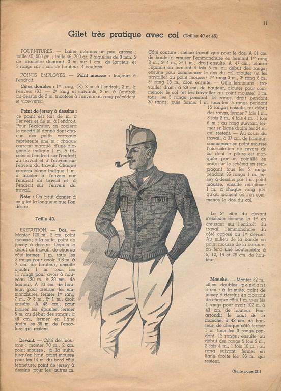 Magazine de tricots de 1939 pour les soldats Tricot26