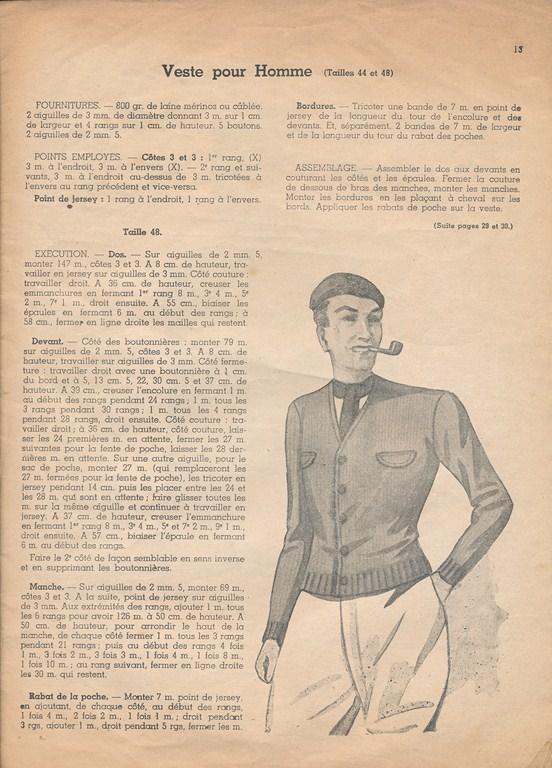 Magazine de tricots de 1939 pour les soldats Tricot27