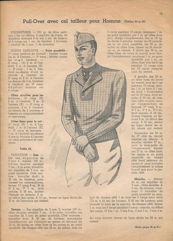 Magazine de tricots de 1939 pour les soldats Tricot29