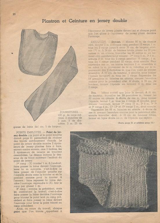 Magazine de tricots de 1939 pour les soldats Tricot30