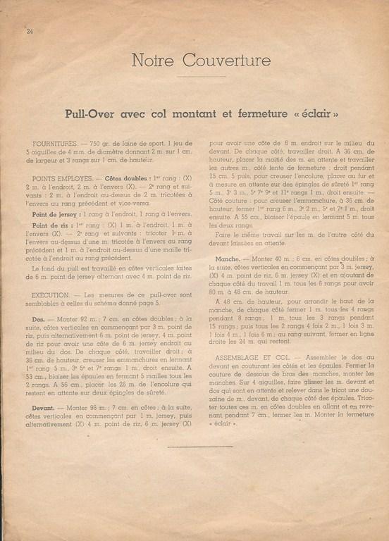 Magazine de tricots de 1939 pour les soldats Tricot31