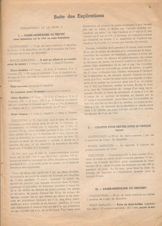 Magazine de tricots de 1939 pour les soldats Tricot32