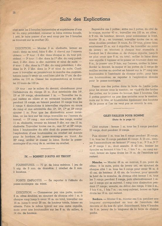 Magazine de tricots de 1939 pour les soldats Tricot33