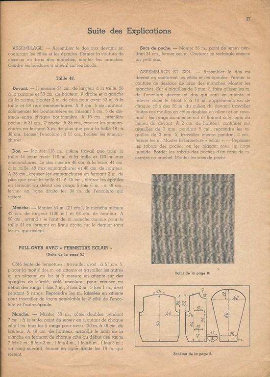 Magazine de tricots de 1939 pour les soldats Tricot34