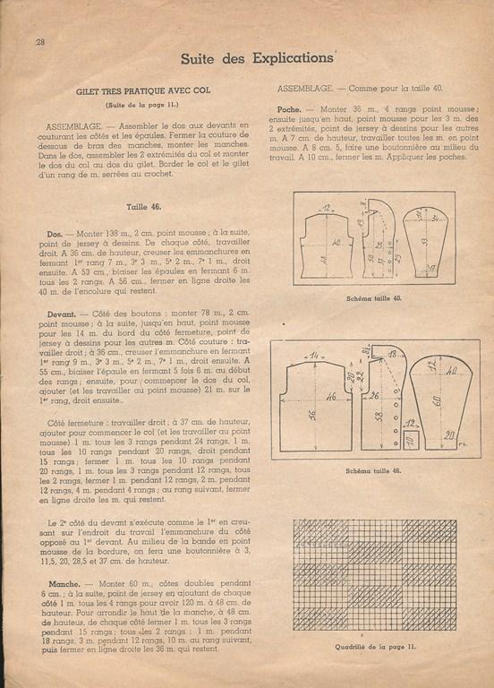 Magazine de tricots de 1939 pour les soldats Tricot35