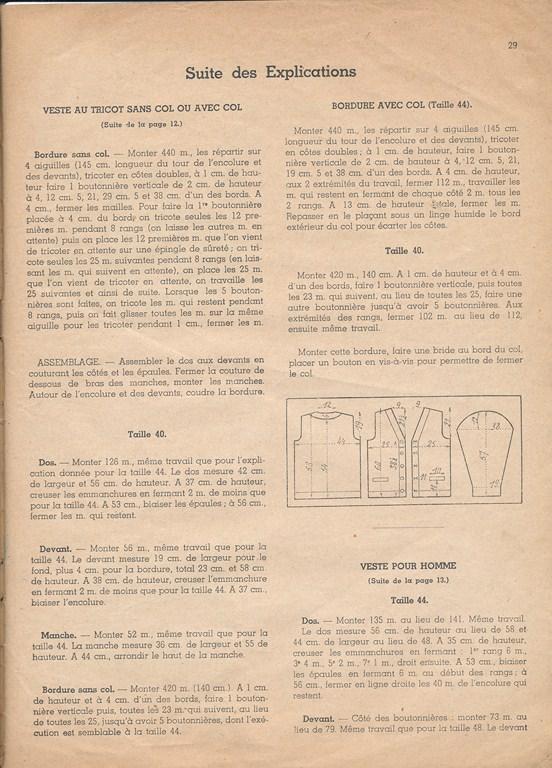 Magazine de tricots de 1939 pour les soldats Tricot36
