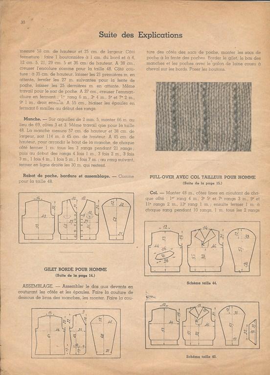Magazine de tricots de 1939 pour les soldats Tricot37