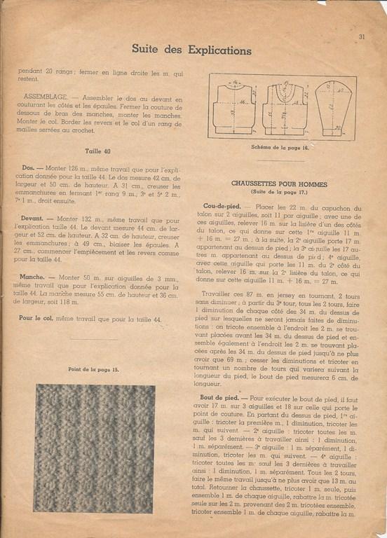 Magazine de tricots de 1939 pour les soldats Tricot38