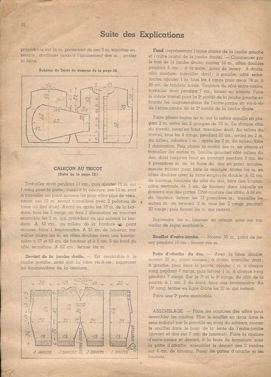Magazine de tricots de 1939 pour les soldats Tricot39