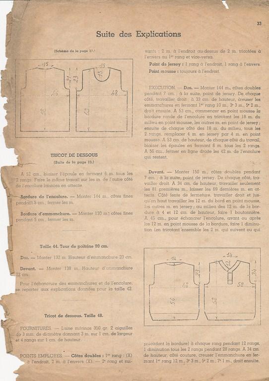 Magazine de tricots de 1939 pour les soldats Tricot40