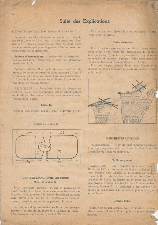 Magazine de tricots de 1939 pour les soldats Tricot41