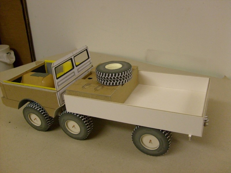 LKW TATRA 813 6x6 M1:20 Eigenbau gebaut von klebegold 78k10
