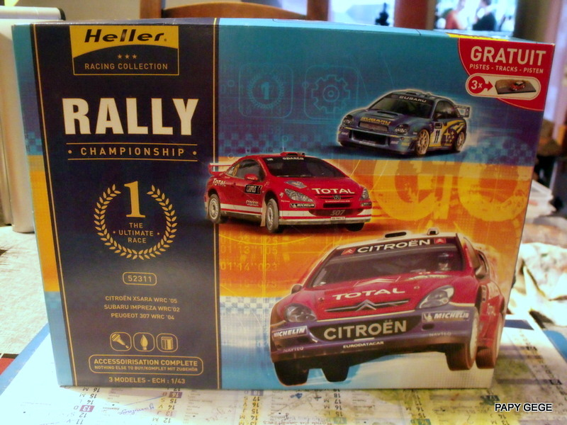 Rallye championship Subaru WRC / Xara WRC / 307 WRC 1/43 HELLER 01-01-10