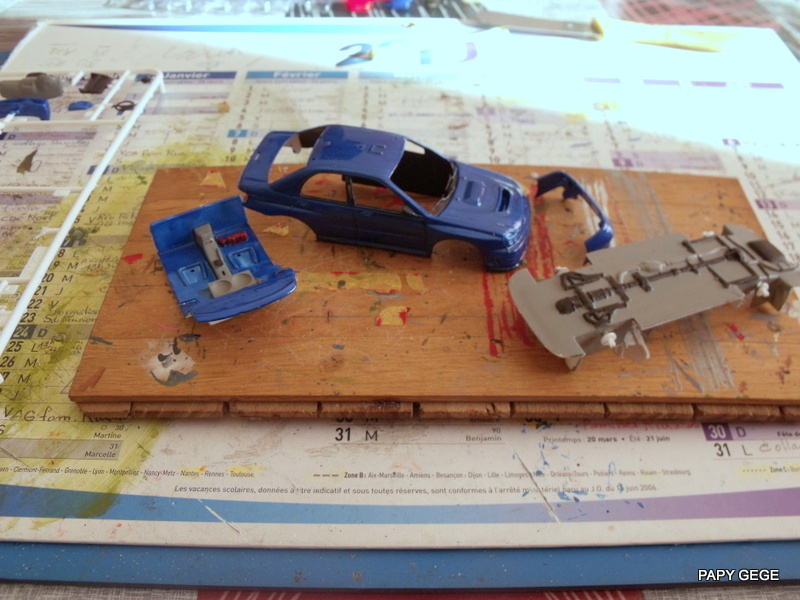 Rallye championship Subaru WRC / Xara WRC / 307 WRC 1/43 HELLER 07-07-10