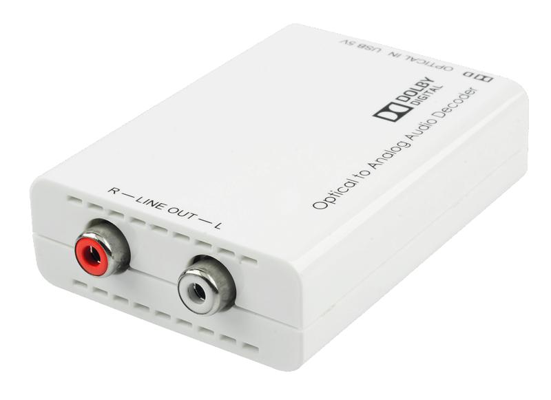 Dac economico con ingresso s/pdif, con codifica dolby/DTS - Stereo per TV Lindy11