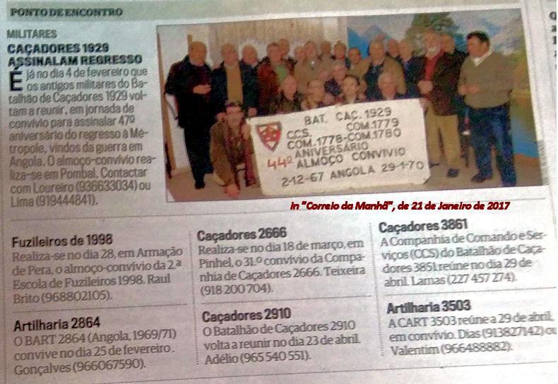 Encontros Convívios de ex-Militares Portugueses, in Correio da Manhã, de 21Jan2017 01_21j10