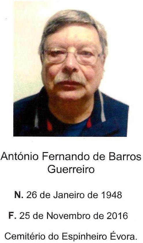 Faleceu o veterano António Fernando Barroso Guerreiro, Alferes Mil.º, da CCS/BArt3873 - 25Nov2016 Antyni10