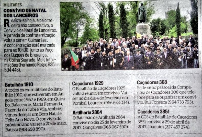Encontros Convívios de ex-Militares Portugueses, in Correio da Manhã, de 10Dez2016 Cm_20010