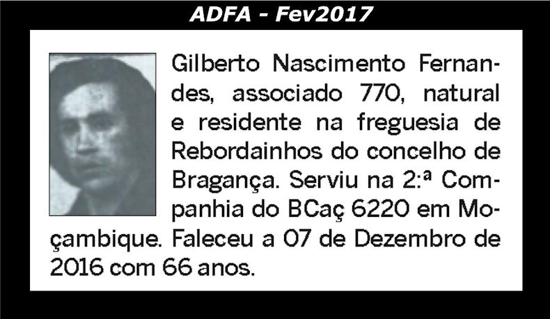 Notas de óbito publicadas no jornal «ELO» da ADFA, do mês de Fev2017 Gilber10