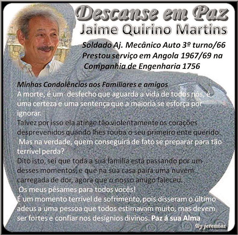 Faleceu o veterano Jaime Quirino Martins, Soldado Mecânico Auto, da CEng1756 - 22Jan2017 Jaime_10