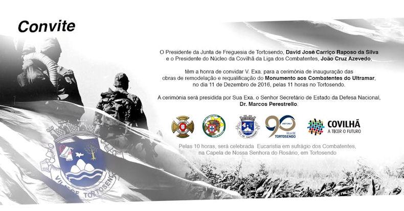Tortosendo - Dias 7 e 11Dez2016, do interesse dos Veteranos da Guerra do Ultramar Monume13