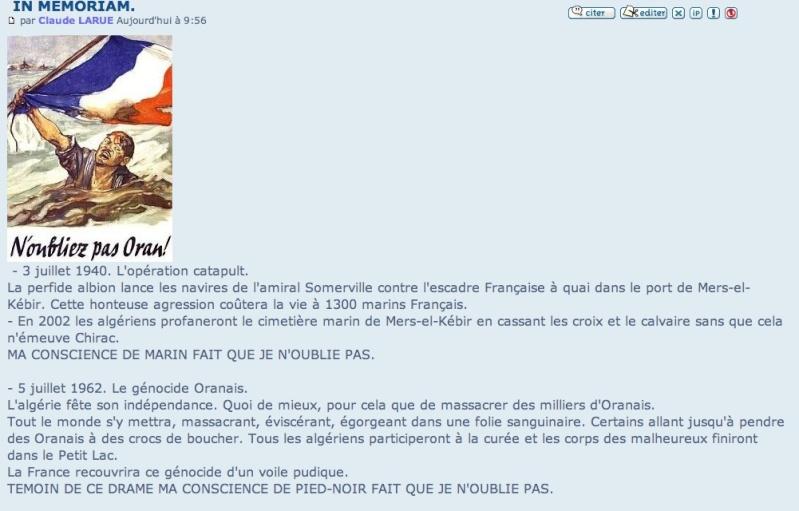 """IN MEMORIAM Cérémonies à le mémoire des mort et des disparus """"ORAN 5 juillet 1962"""" (5 juillet 2013) Oran_t10"""