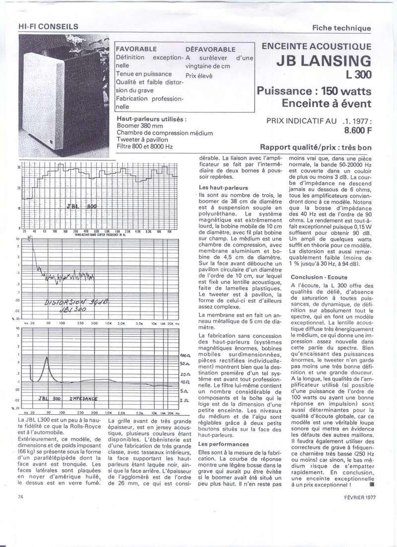 Modèle L300 Année 1976/77 Banc_d10