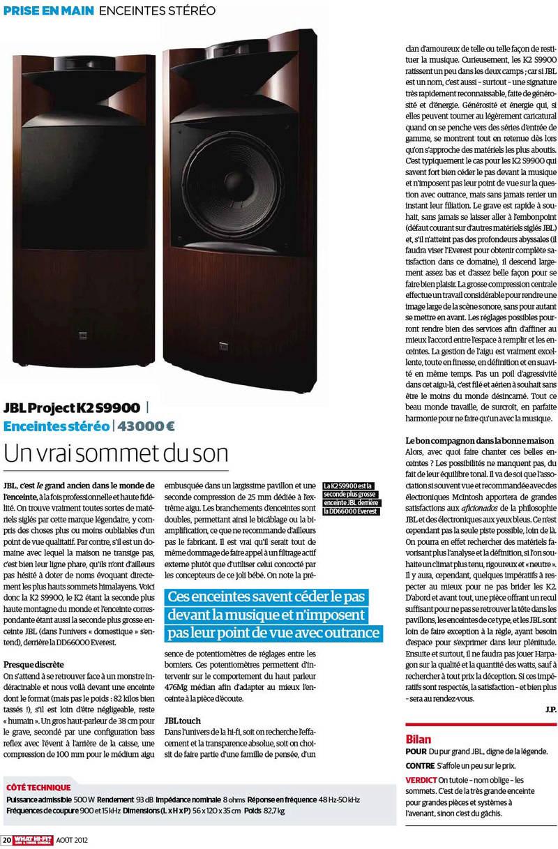 Serie K2 S9900 Banc_d20