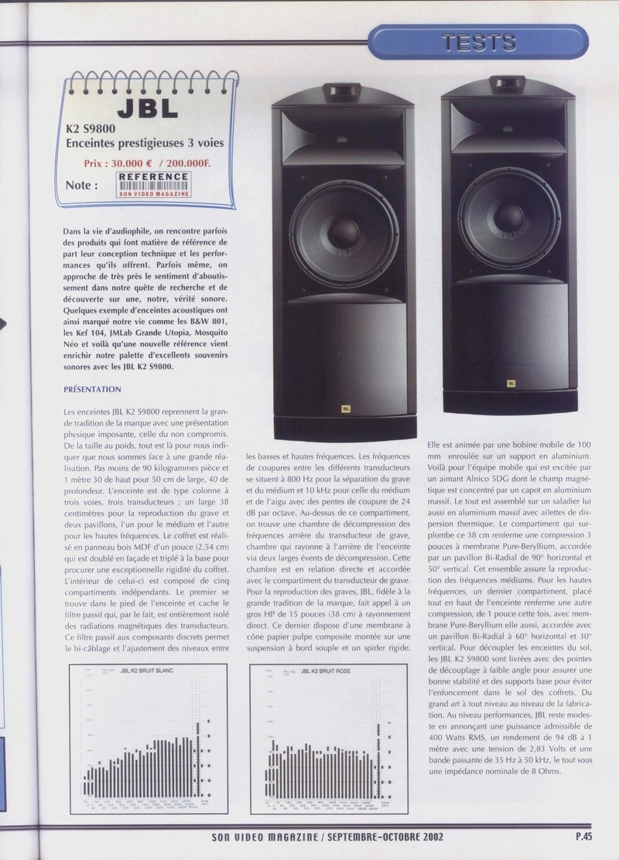 Serie K2 S9800 Banc_d39