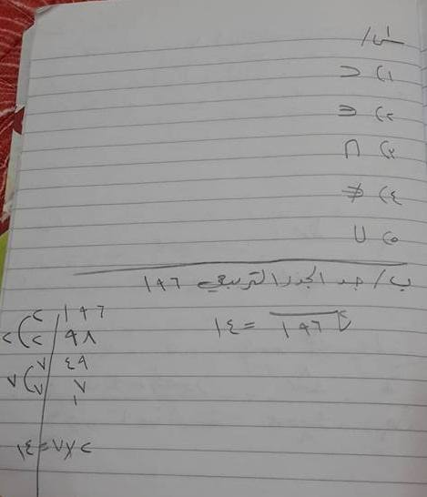 حل أسئلة امتحان الرياضيات للصف السادس الابتدائى 2016 فى العراق الدور الأول  1129