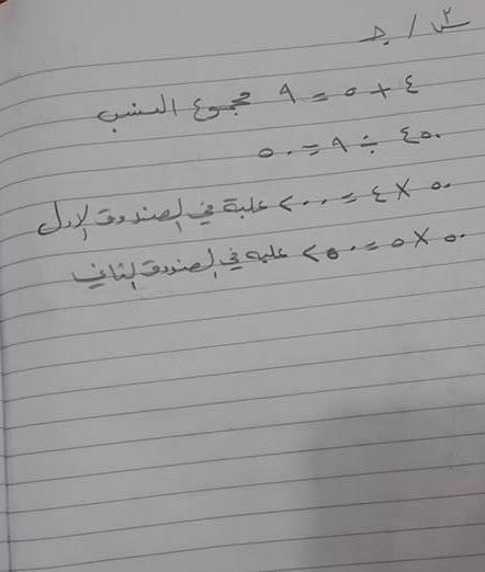 حل أسئلة امتحان الرياضيات للصف السادس الابتدائى 2016 فى العراق الدور الأول  - صفحة 2 1317