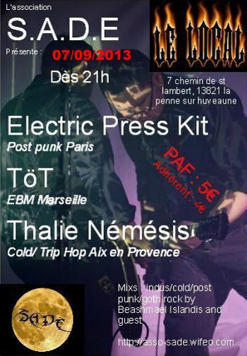 [07.09.13]  ELECTRIC PRESS KIT+ TÖT+THALIE NEMESIS-Le local- Electr11