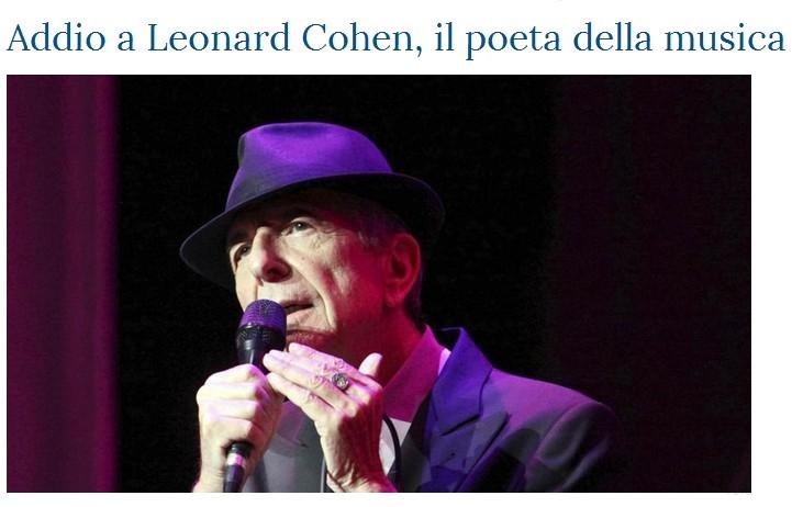 Addio a Leonard Cohen Cohen10