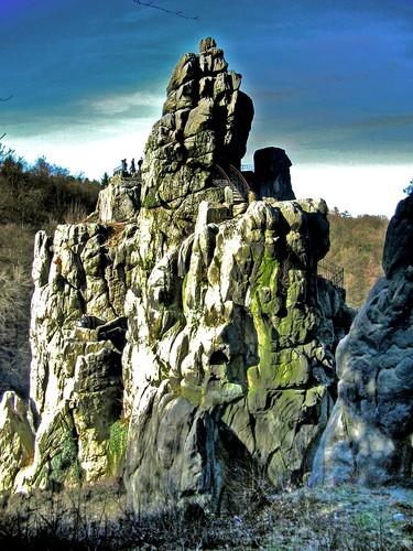 Les Externsteine, Rhénanie du Nord Westphalie - Allemagne 11034211