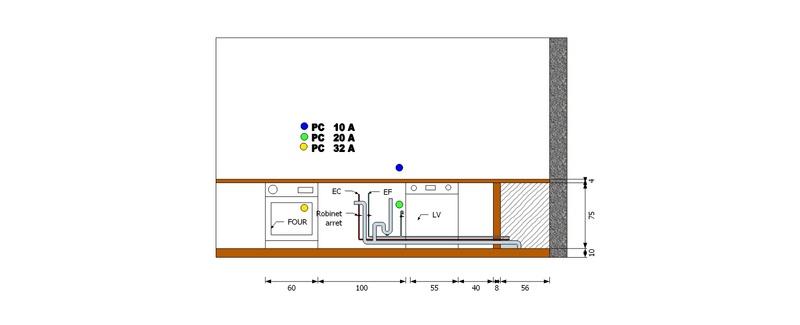 Plan technique sanitaire et électrique Schema10