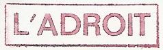 * L'ADROIT (1958/1980) * 205_0011