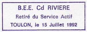 * COMMANDANT RIVIÈRE (1962/1992) * 756_0010