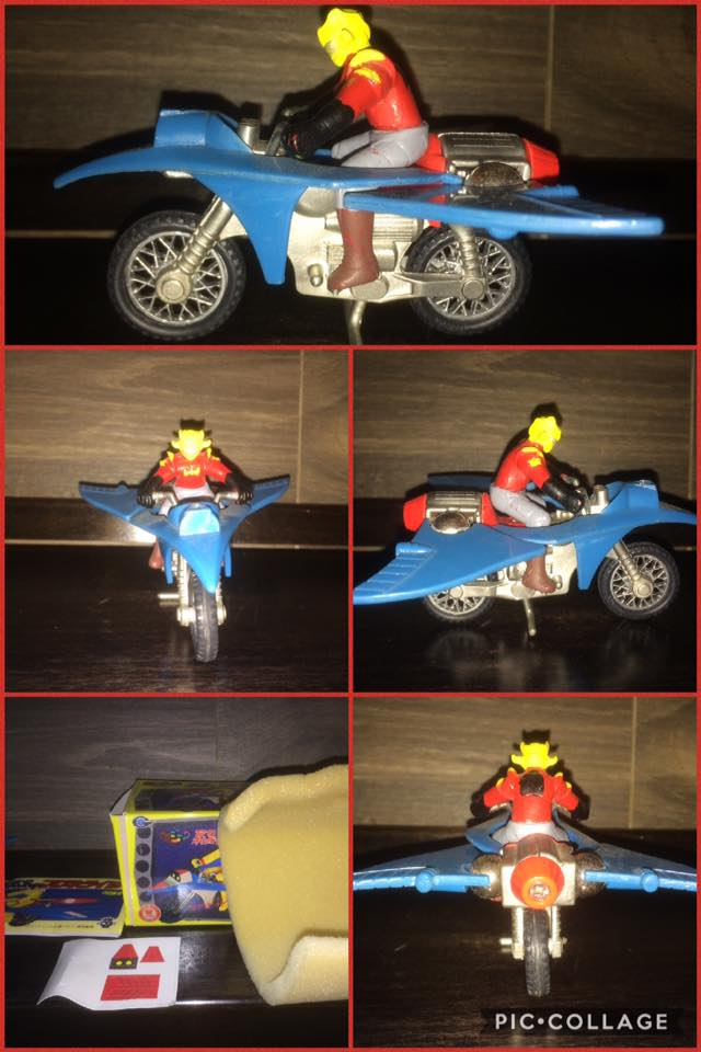 JEEG ROBOT ACCIAIO REPRO KOTETSU HIROSHI SHIBA CYCLE MOTOR BIKE NO POPY JAPAN VINTAGE 112