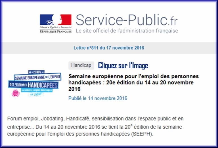"""La lettre N° 811 de """"Service Public"""" pour le 17 Novembre 2016 81110"""
