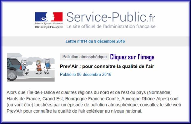 """La lettre N° 814 de """"Service Public"""" pour le 08 Décembre 2016 81410"""