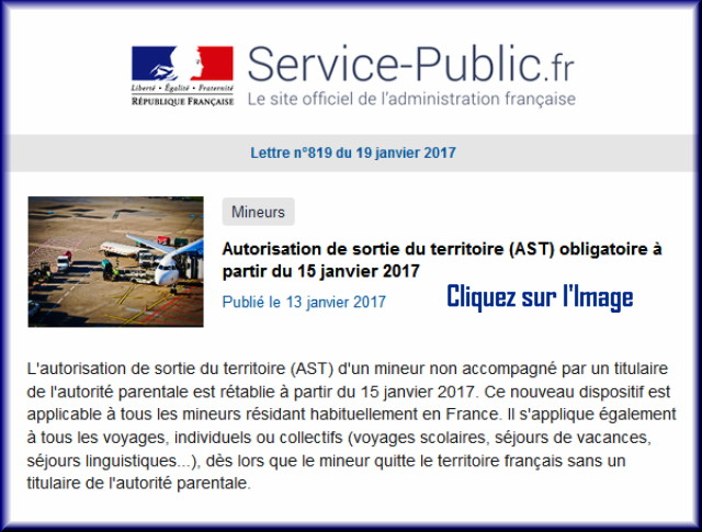 """La lettre N° 819 de """"Service Public"""" pour le 19 Janvier 2017 81910"""