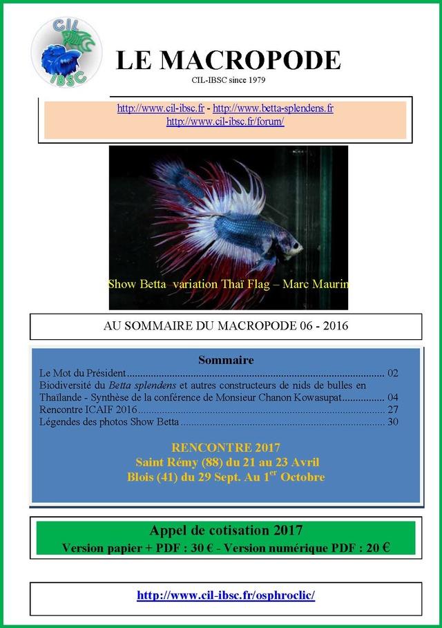 Sommaires revue du Macropode. - Page 2 2016-012