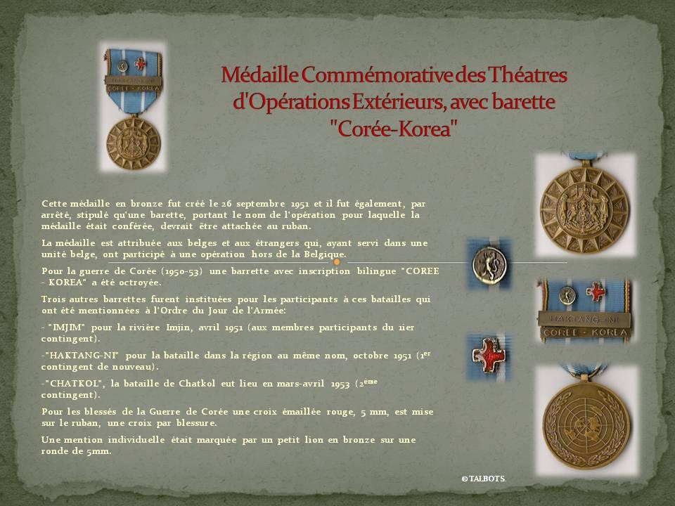 médailles de la guerre de corée Madail25