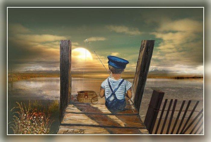 Coucher de soleil(Psp/Coups de pinceaux) Image165